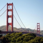 View of the Golden Gate Bridge in San Francisco U.S.