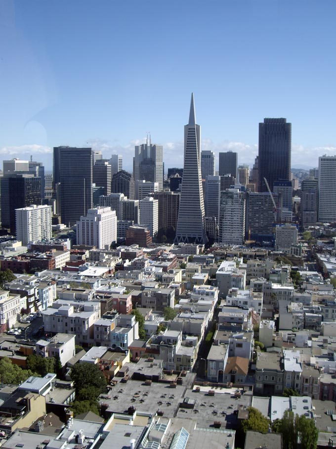 Another bird's eye view of San Francisco.