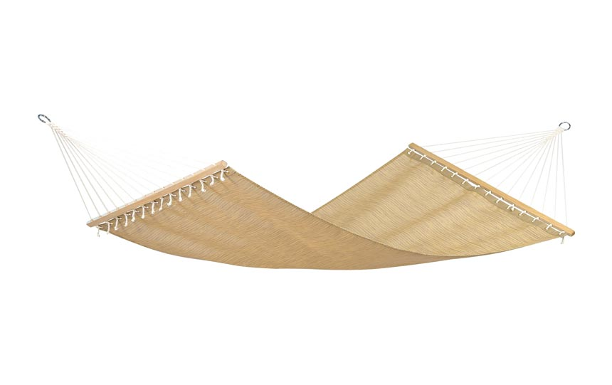 A straw hammock. Image by Amara.