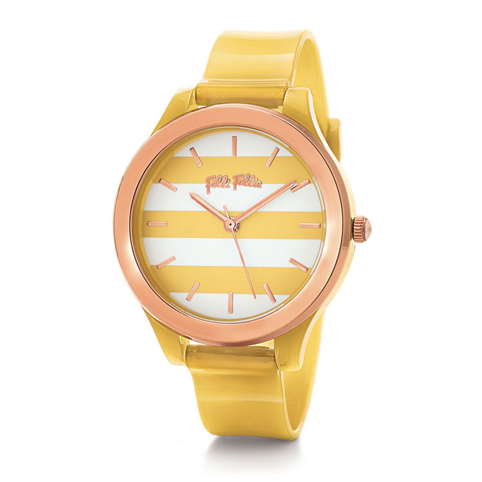 A yellow women's wrist watch by Folli Follie.