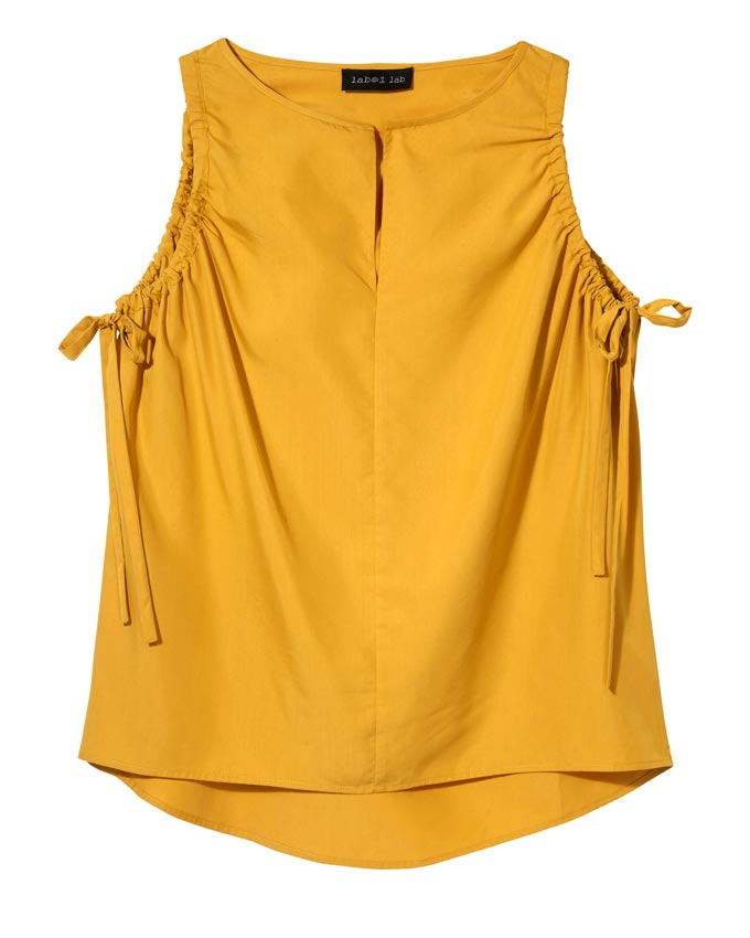 A deep yellow sleeveless top by House of Fraser.