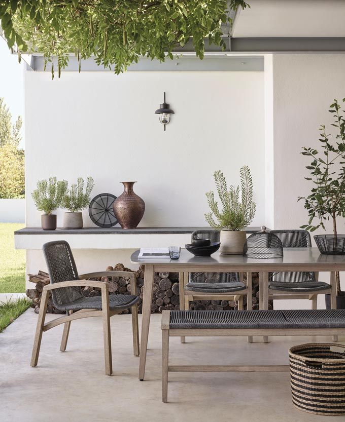 A stylish contemporary outdoor setting with a Nordic flair to it. Image by John Lewis.