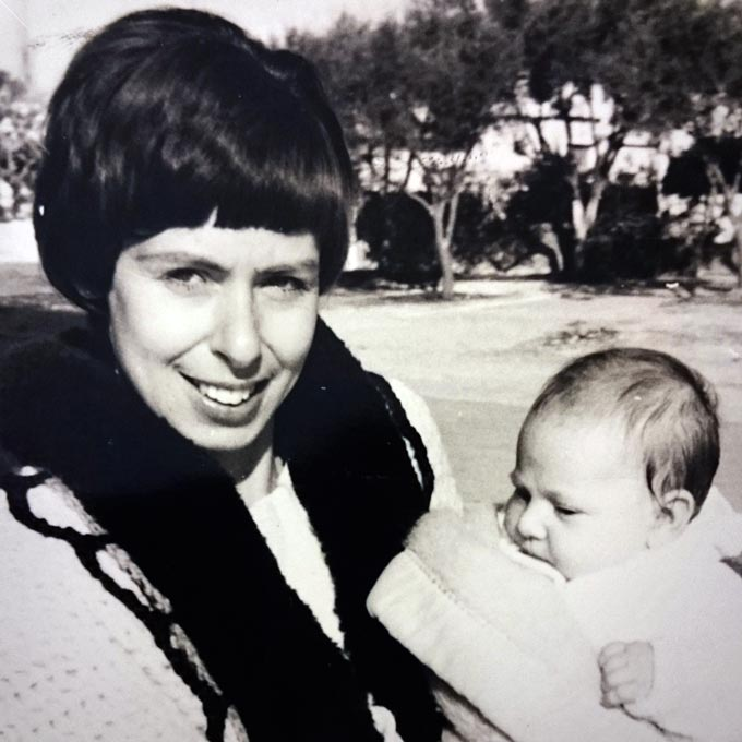 My mother and me as a newborn.