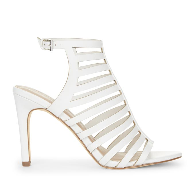White strappy high heel sandal. Image by New Look.