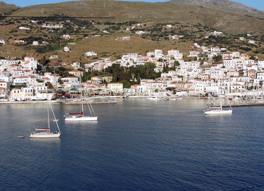 View of the Batsi seaside village. Image by Velvet.
