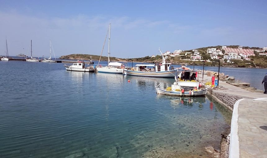 Another view of the marina at Batsi. Image by Velvet.