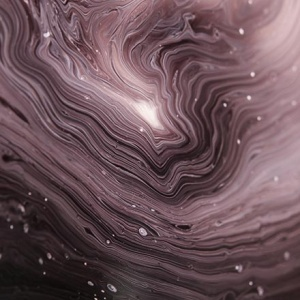 Close up image of an experimental painting with thin rings of white and black paints. Image by Lurm on Unsplash.