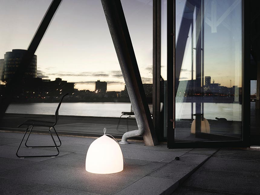The Suspence Nomad by GamFratesi takes its name from the design philosophy behind it; the idea that it can be easily moved around within your home, even outdoors creating a warm, cosy atmosphere. Image by Nest.co.uk.
