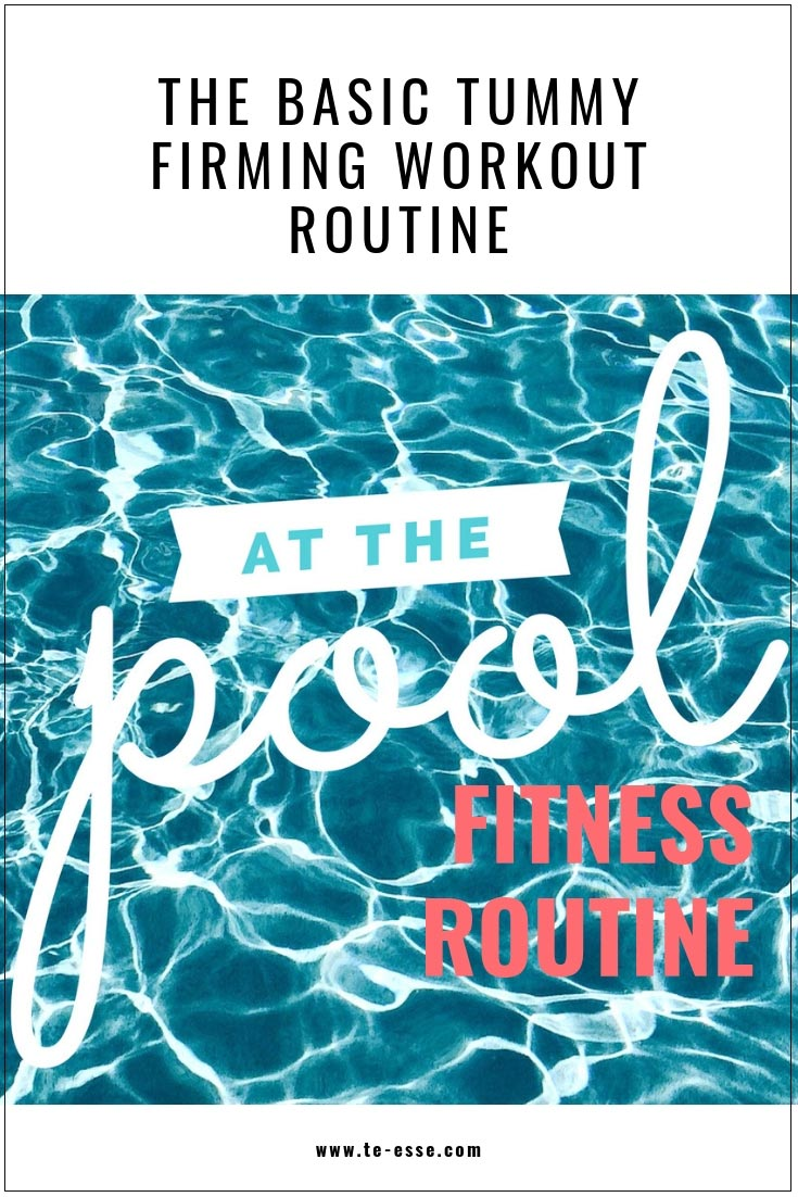 A pin graphic with a pool's image that reads Working Out By the Pool Routine.