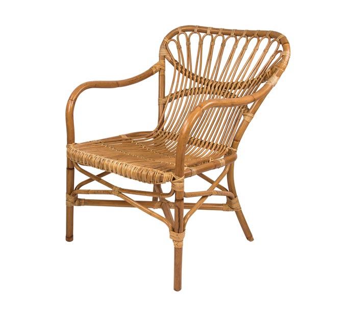 A curvy rattan chair. Image by Amara.