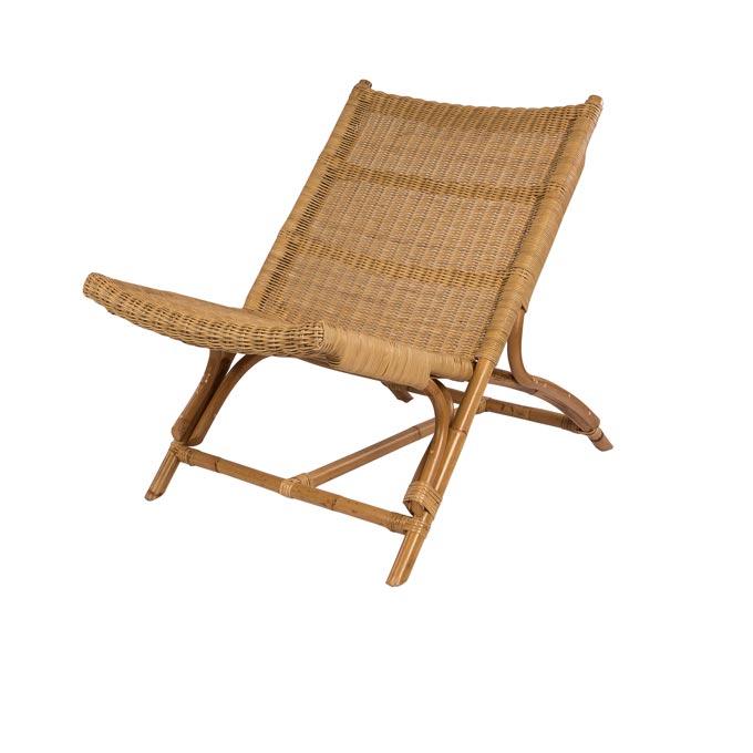 A armless rattan chair. Image by Amara.
