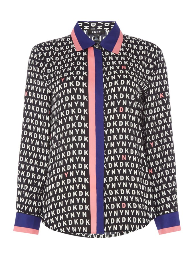 A DKNY logo shirt. Image by House of Fraser.