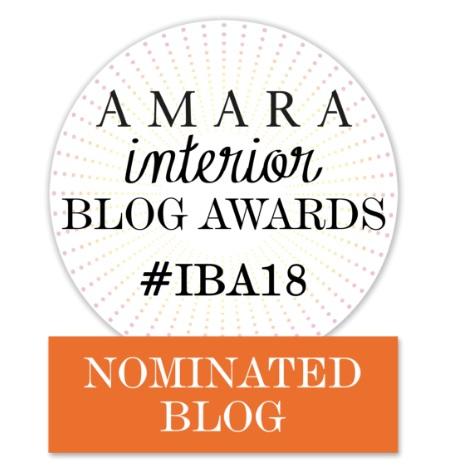 Amara Interior Awards #IBA18 Nominated Blog Badge