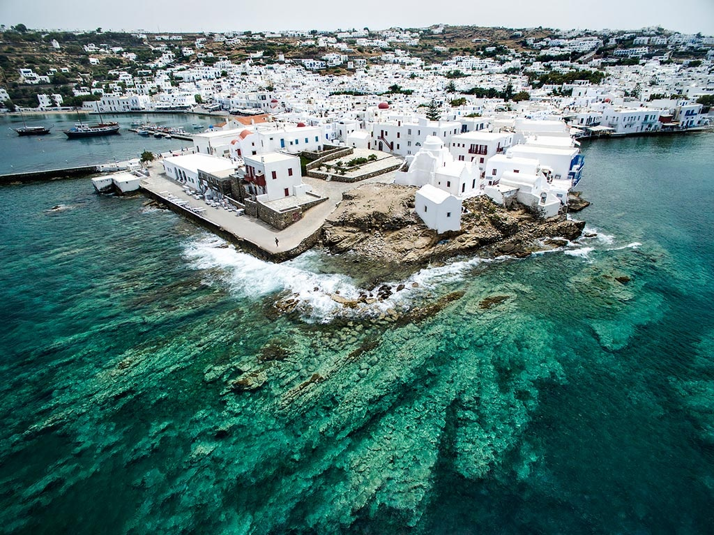 A bird's eye view of Mykonos Chora in Greece. A fascinating image by Marina Vernicos.