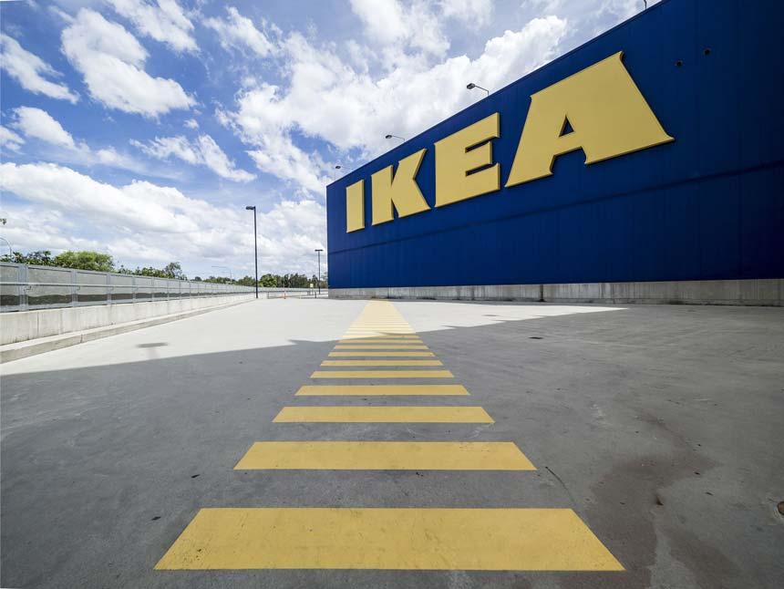 An IKEA warehouse.