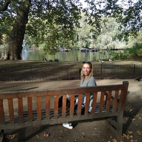 Elisabeth at Hyde Park in London.