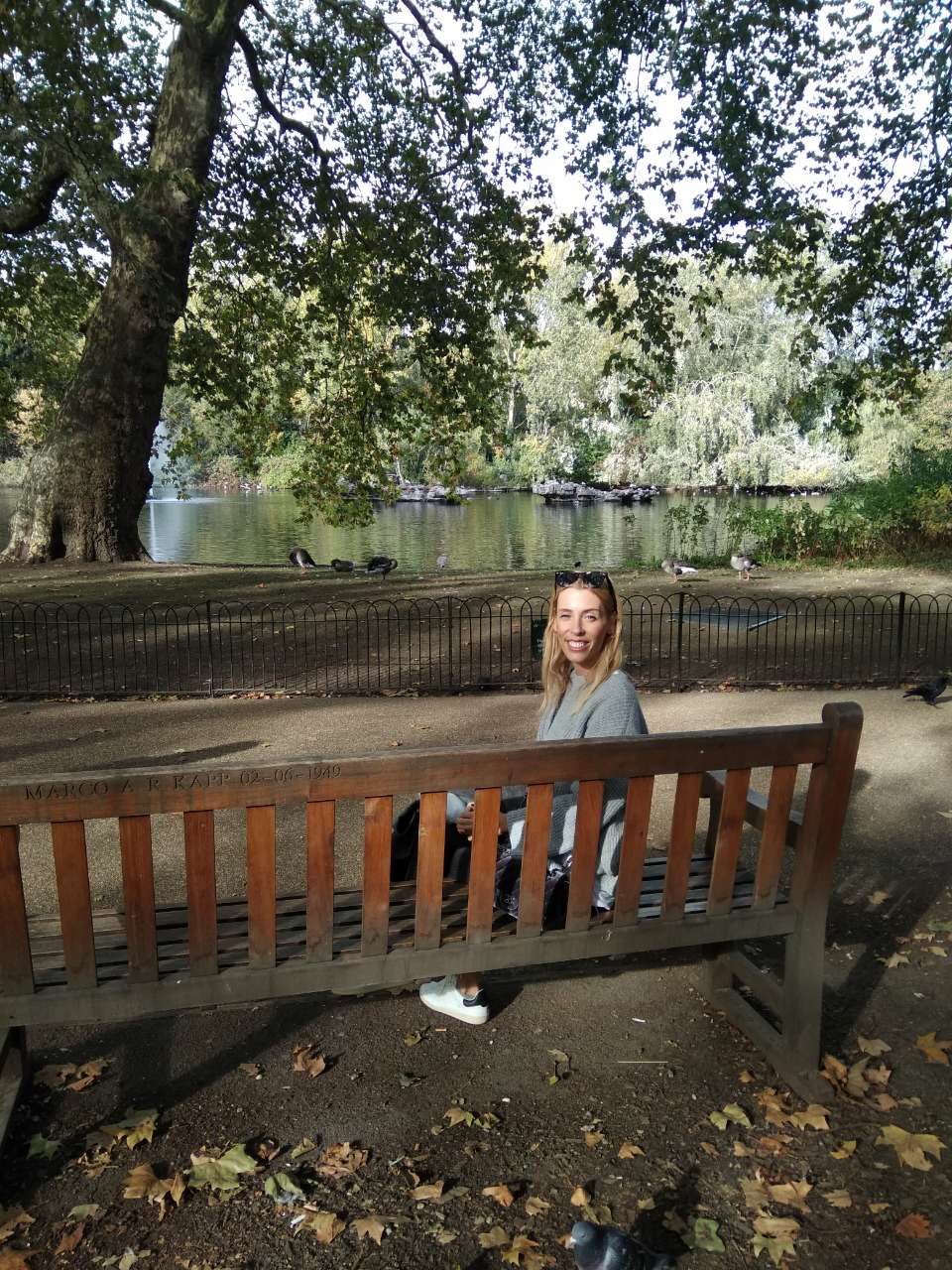 Elisabeth at Hyde Park in London.