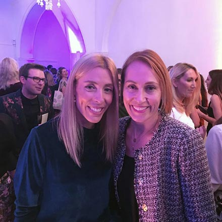 Elisabeth and Velvet at Marylebone One in London for the Amara Interior Blog Awards 2018.