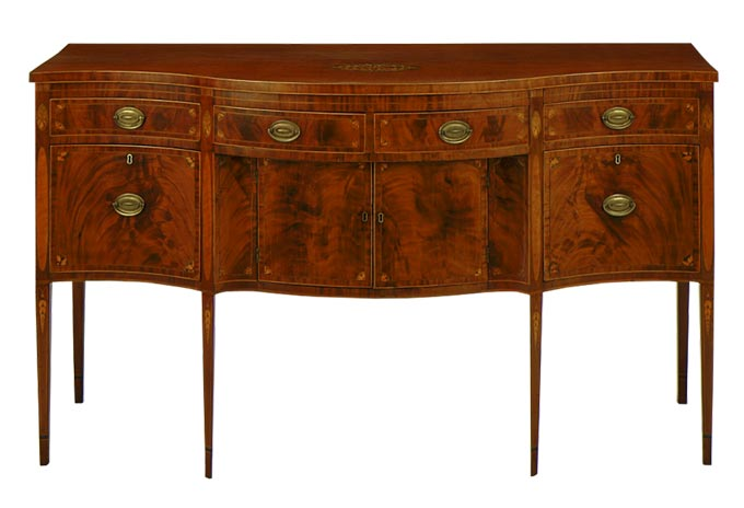 An antique sideboard.