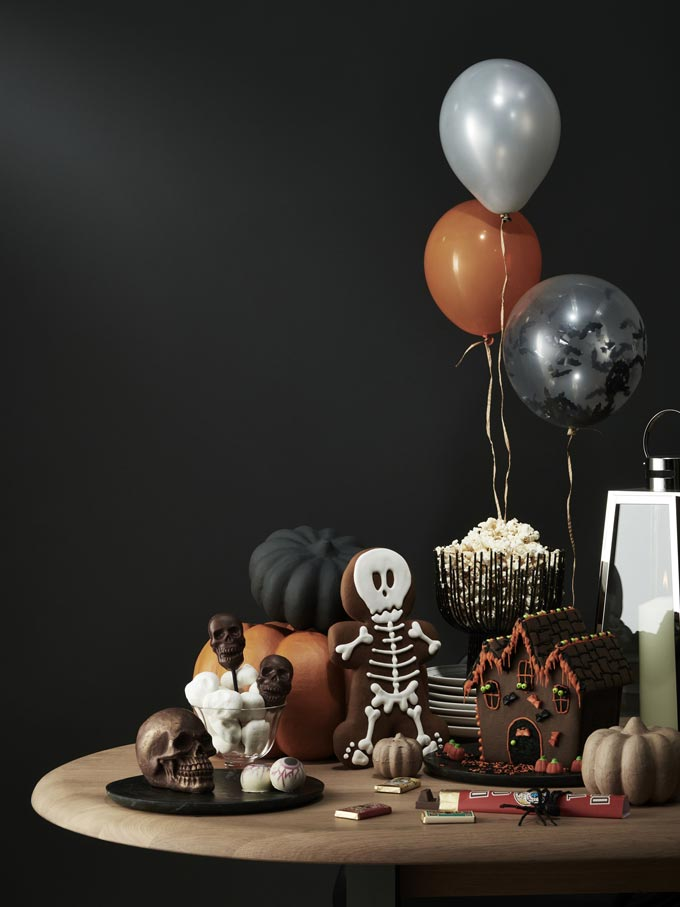 Lots of Halloween sweets and candy as decor on a table. Image by John Lewis.