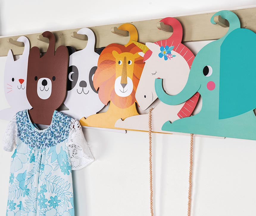 Assorted animal coat hangers. The cutest I've ever seen. Image by Rexlondon.