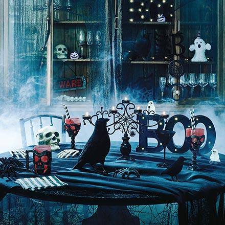 Creepy! This home interior is well decorated for Halloween that it gives you the creeps. Image by Sainsbury's Home.