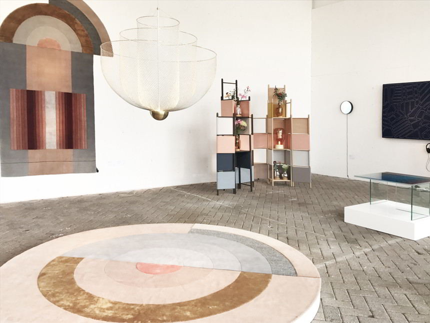 Partial view of the installation by 28gramsofhappiness at Sectie C in Eindhoven during the DDW18.