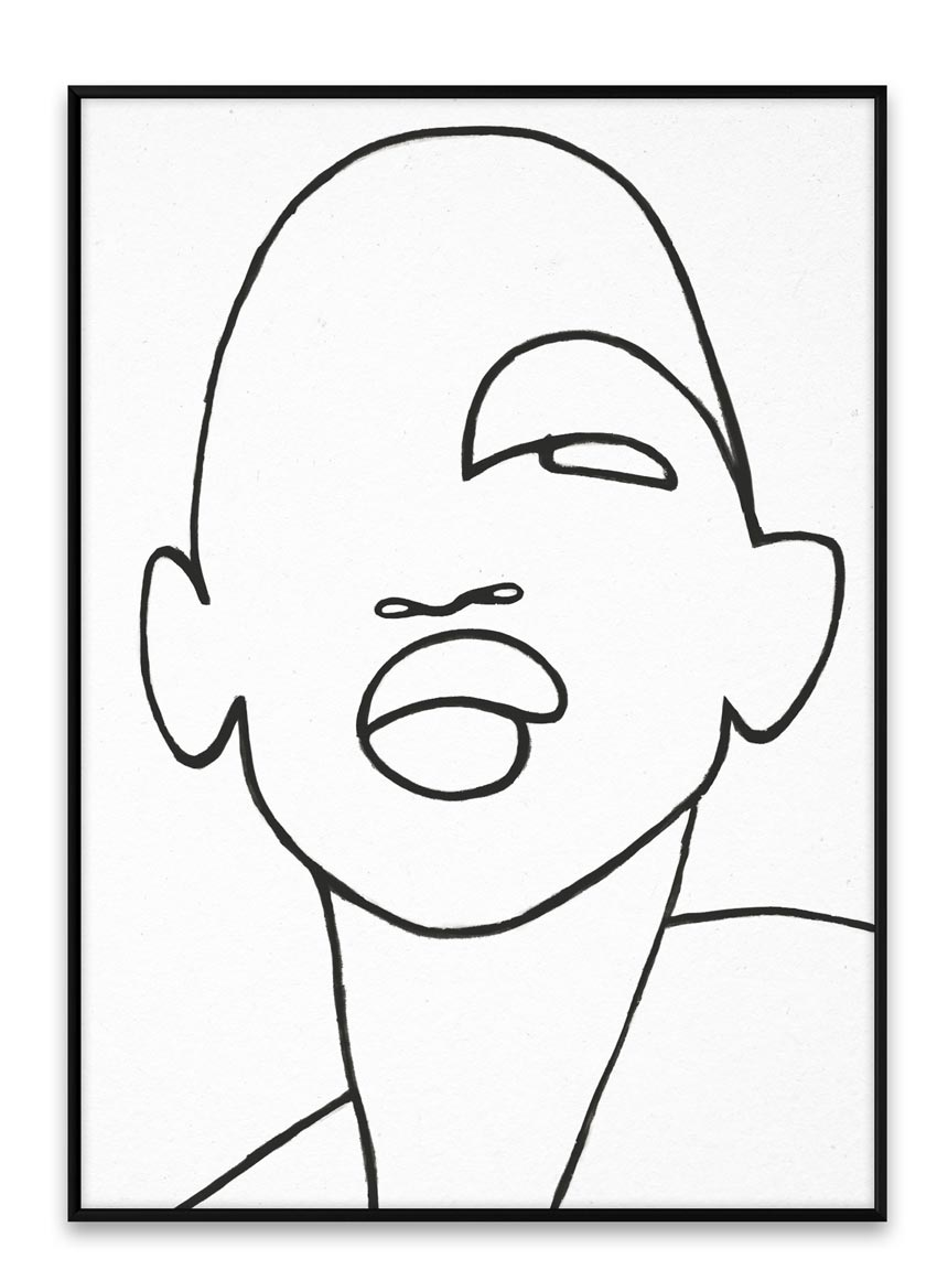 A line drawing portrait of a woman. Image by Nest.co.uk.