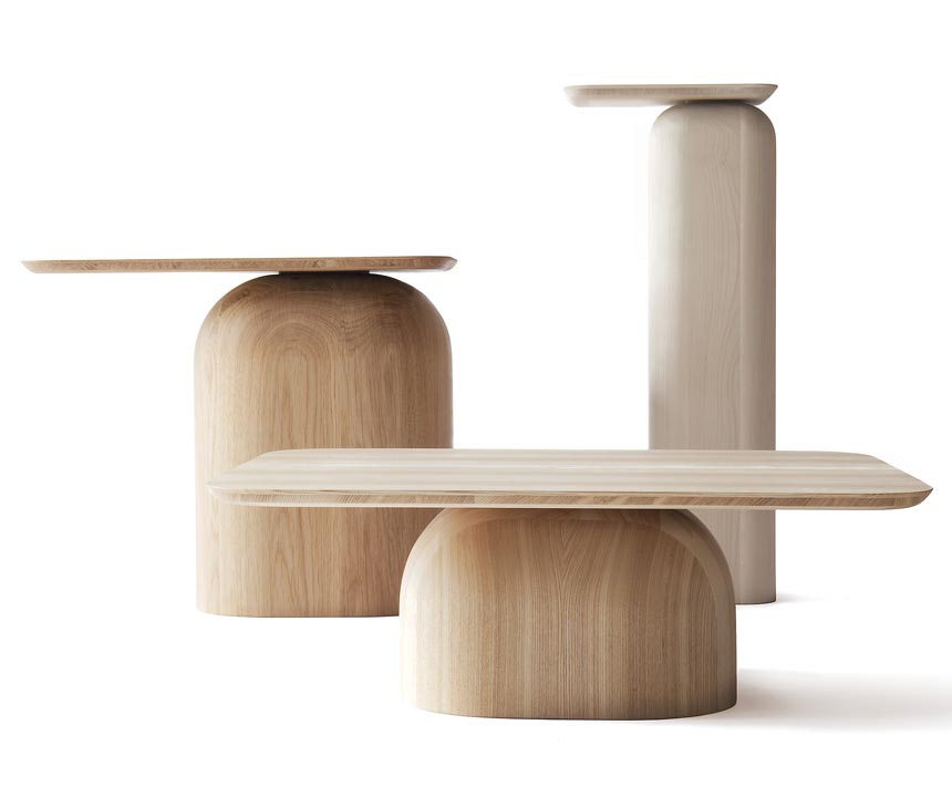 The Nikari April set of 3 tables by Haberli for Nikari. Image by Nest.co.uk.