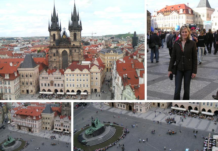 Views from Prague's Old Town Square.
