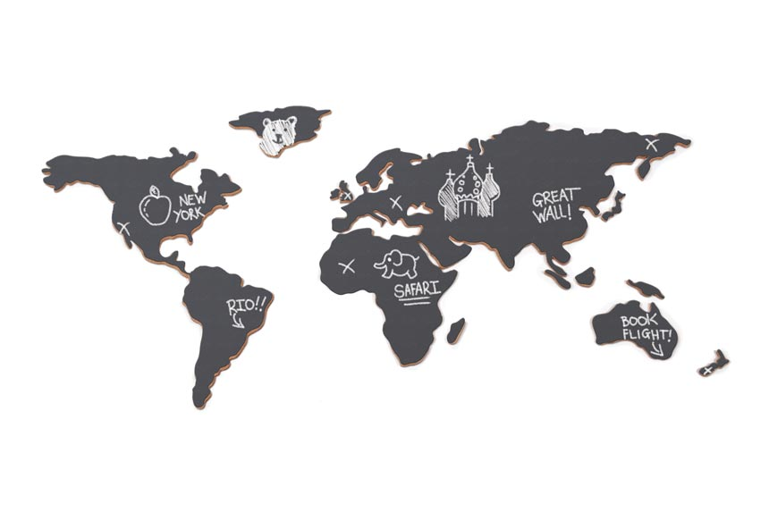 A chalkboard world map. Image by Animi Causa.