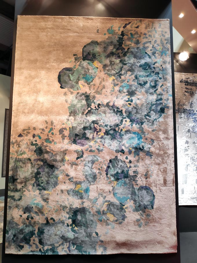 A beautiful area rug at the iSaloni 2019 in Milan.