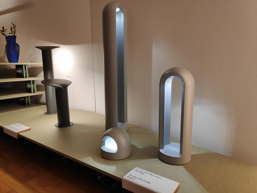 Various lamps by Spanish designers on display during Milan's Design Week.