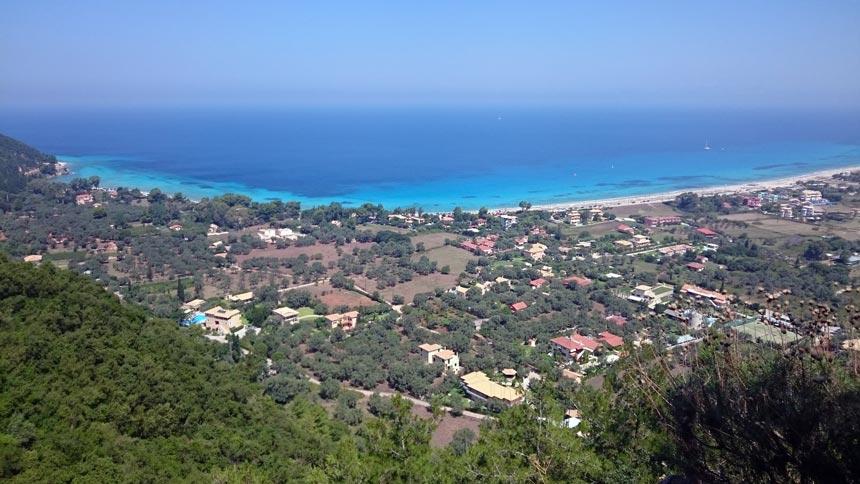 Sea view of the Western coastline of Lefkada. Image by Velvet Karatzas.