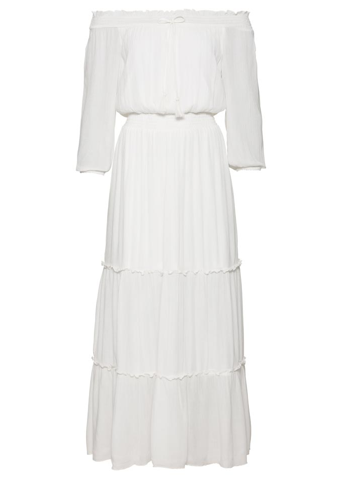 A Brigitte Bardot white dress by Bon Prix.