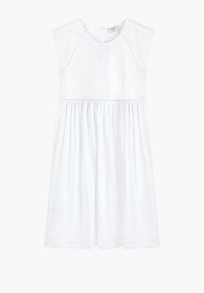 A short white dress by Hush.