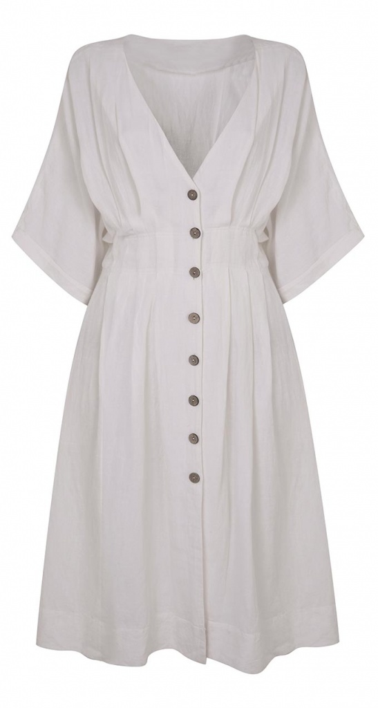 A button down white dress. By Miss Selfridge.