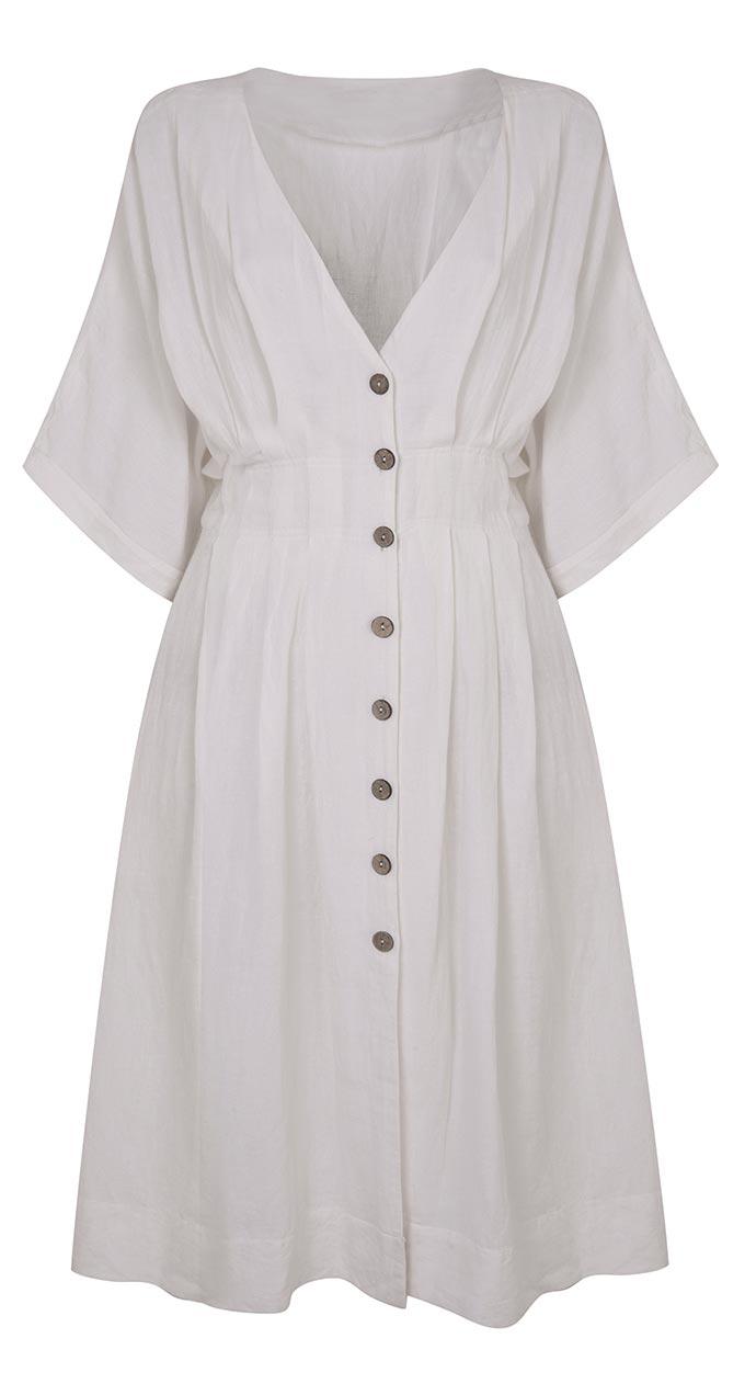 A button down white dress. By Miss Selfridge.