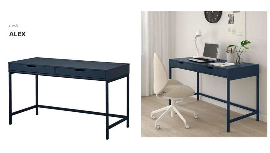 Ikea's Alex desk.