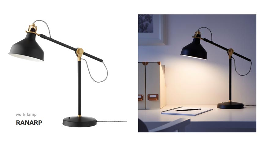 Ikea's Ranarp desk lamp.