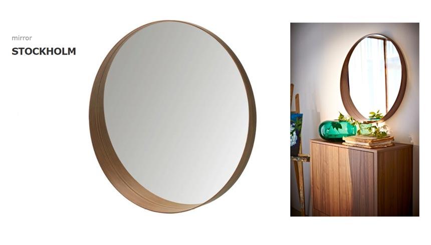 Ikea's Stockholm round mirror.