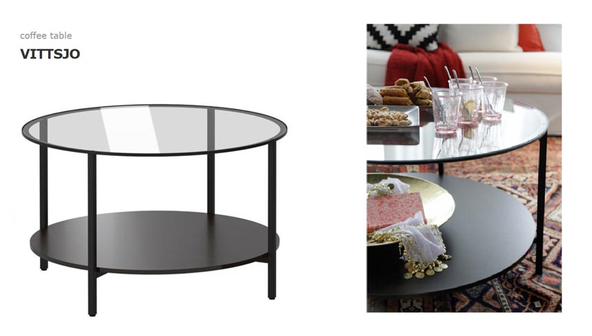 Ikea's Vittsjo coffee table.