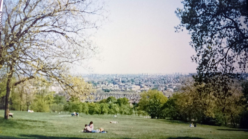 Views of North London from the Alexandra Park Palace.