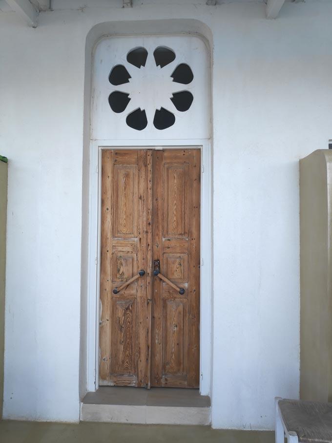 The restored front door of Hotel Emily.