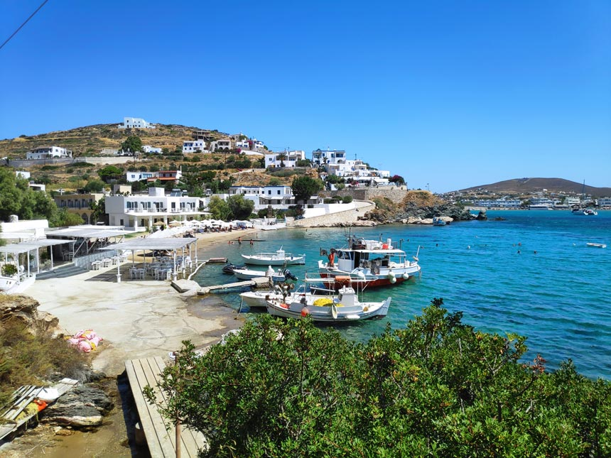 Partial view of the Achladi cove in Syros.