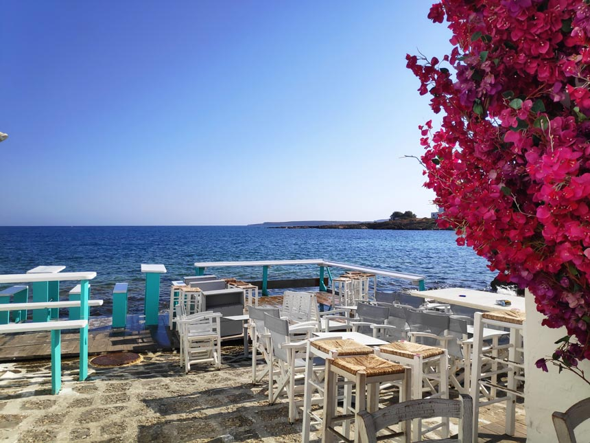 View of the Aegean Sea from Naoussa Paros.