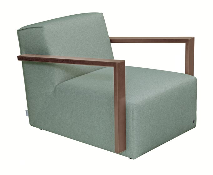 TT- Lazy lounge armchair in a pastel green. Image by Tom Tailor.