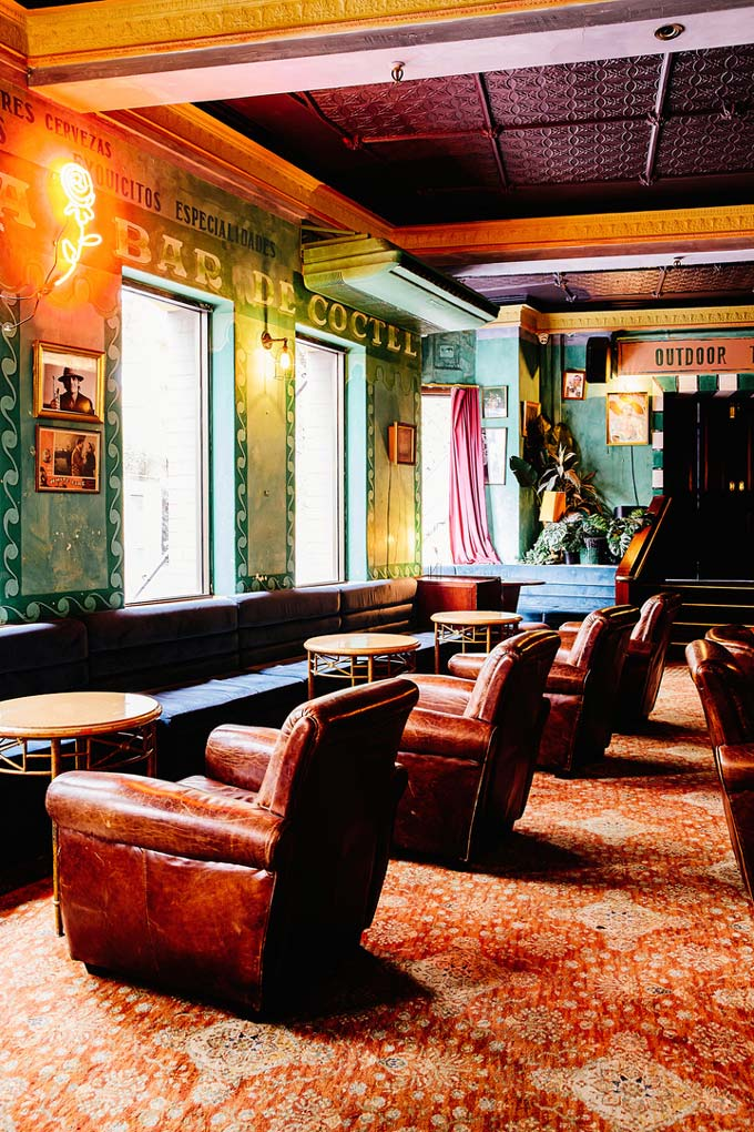 Partial view of the lounge of Hotel Harry at Surry Hills, Sydney.