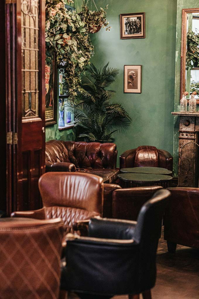 View of the retro styled Parlor of Hotel Harry at Surry Hills, Sydney.