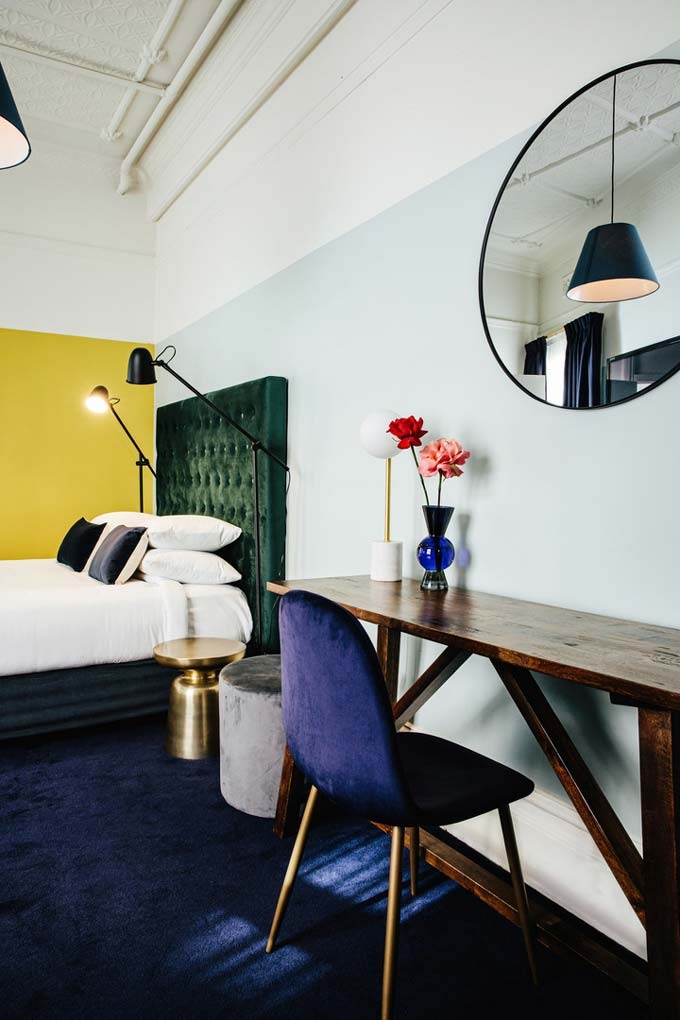 Partial view of one of the rooms of Hotel Harry at Surry Hills, Sydney.